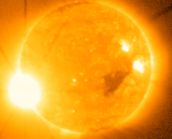 Sunspots and solar flare
