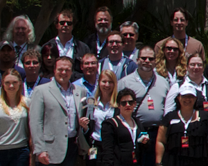 Closeup of JPL Tweetup Group Photo with Kevin A. Barnes