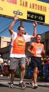 Kevin crosses the Finish Line in San Antonio!