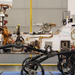 Curiosity rover in JPL clean room