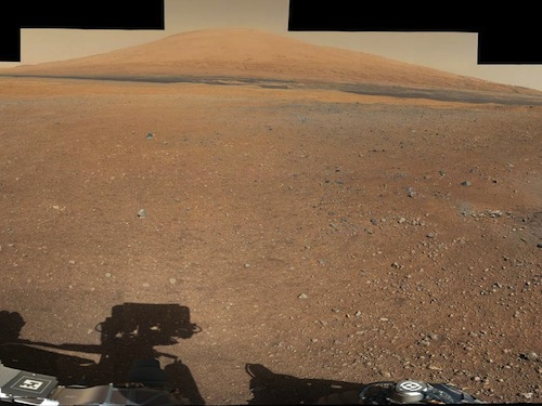 Panorama of the Martian surface taken by Curiosity rover