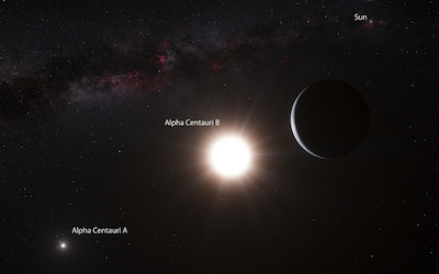 Artist's depeiction of Alpha Centauri system
