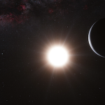 Artist's depiction of Alpha Centauri system