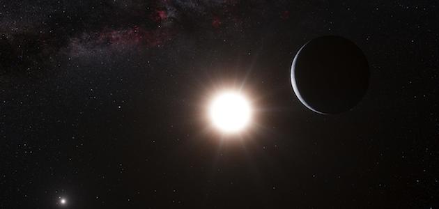 Artist's depiction of Alpha Centauri system
