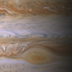 Jupiter as seen from Cassini in December 2000