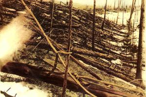 Tunguska devastation - 1908