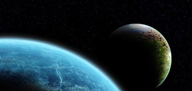 Two alien planets