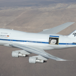 SOFIA with telescope door open